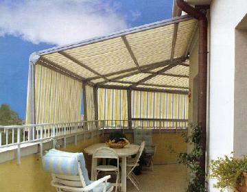 Realizzazione di tende da sole tappezzeria aversa for Tenda terrazzo